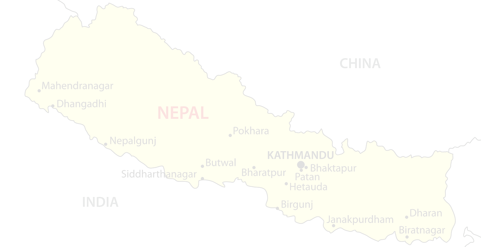 nepal background map