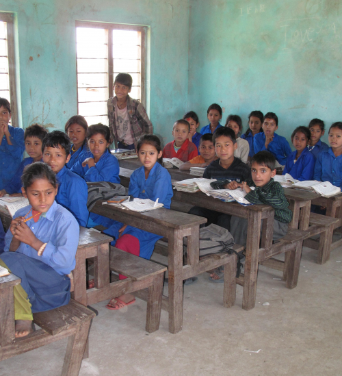 Nepal school students 1